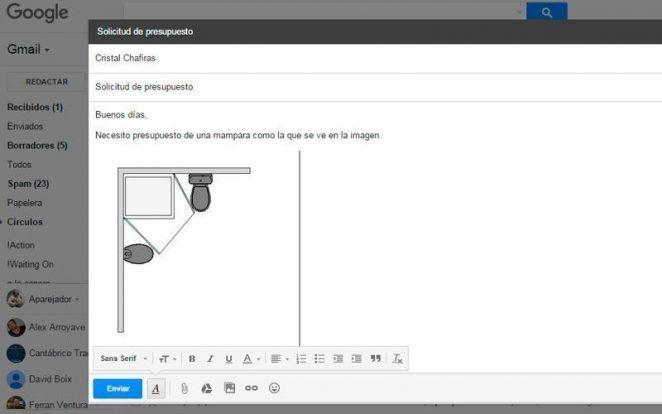 Insertar imagen en gmail