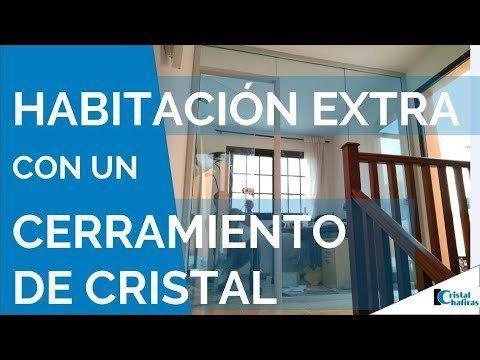 Cerramiento de cristal con puerta para despacho en Tenerife