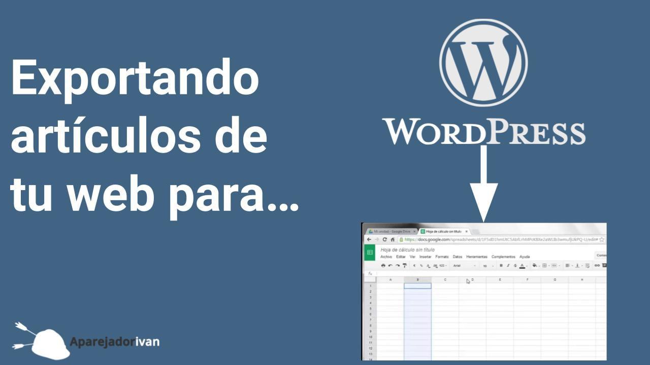 exportando artículos de la web para