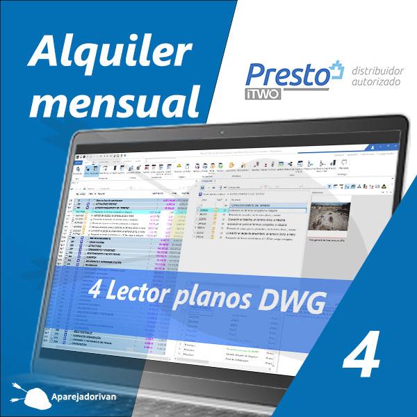 Alquiler mensual 4 Lector planos DWG - Presto