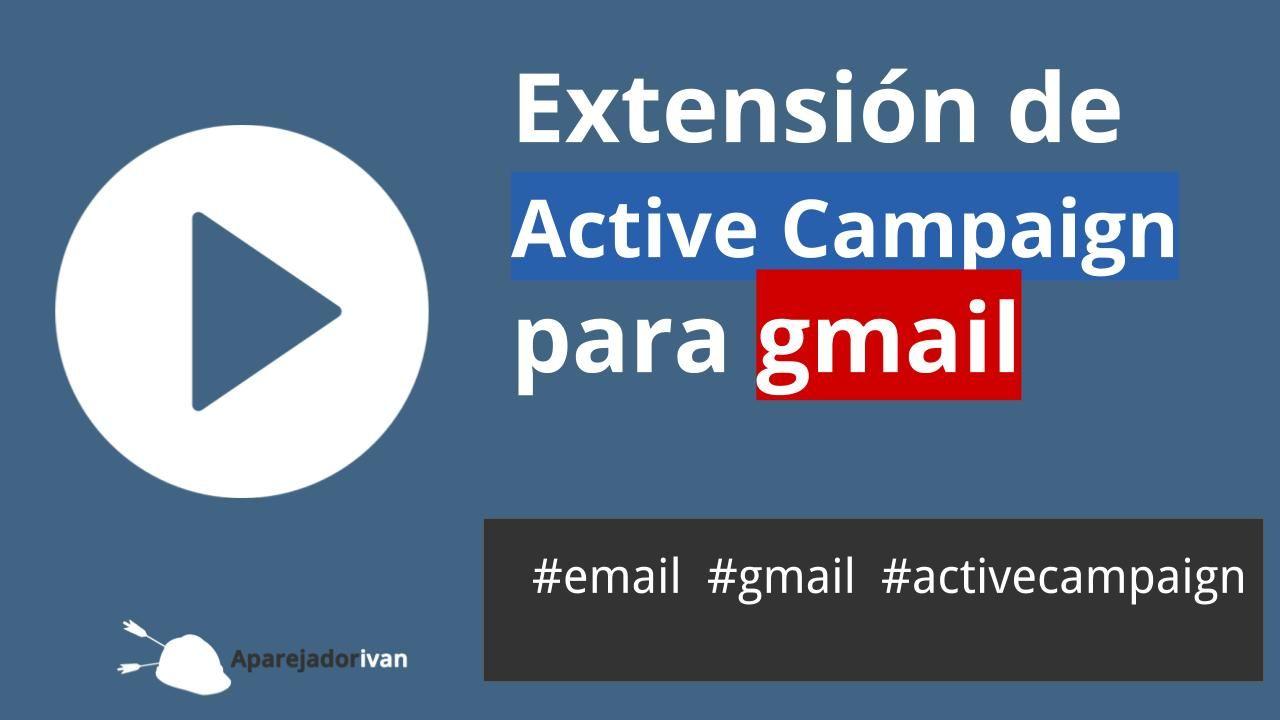 Extensión de Active Campaign para gmail