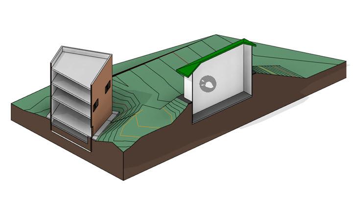 ajustar elevacion del terreno a edificios revit