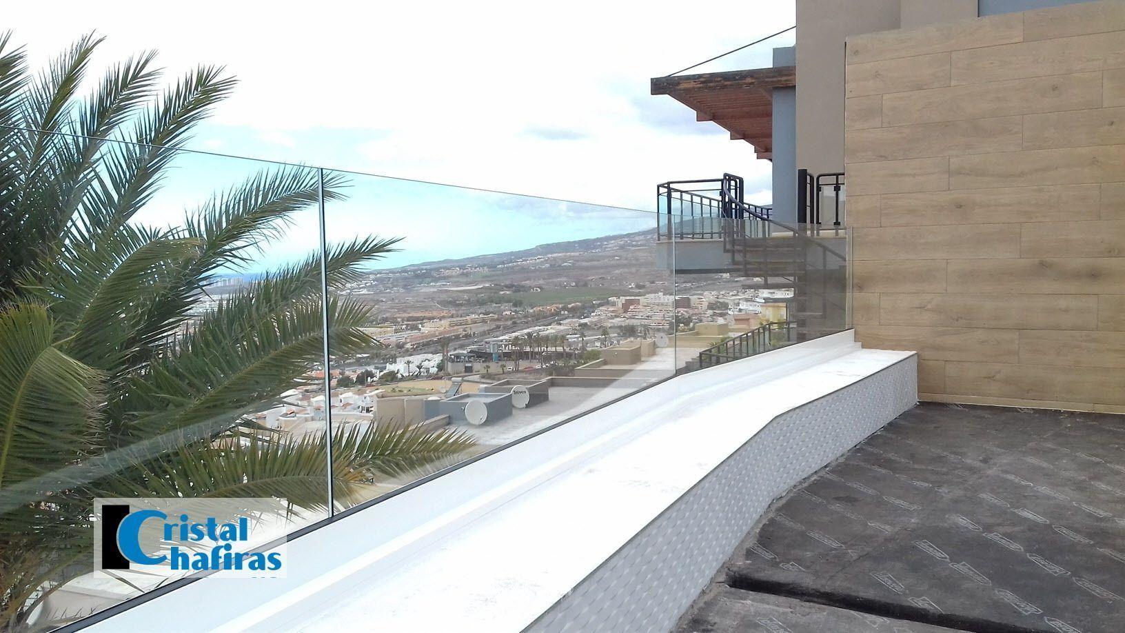 Barandilla de cristal en Tenerife