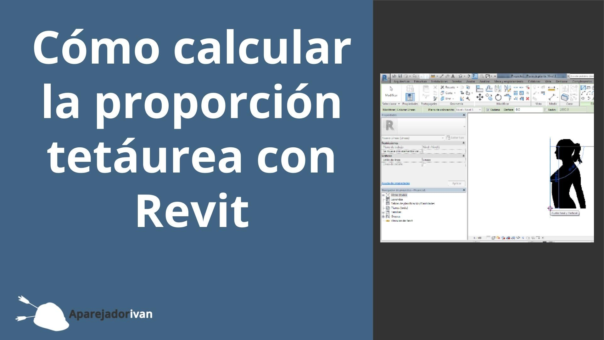 cómo calcular la proporción tetáurea con Revit