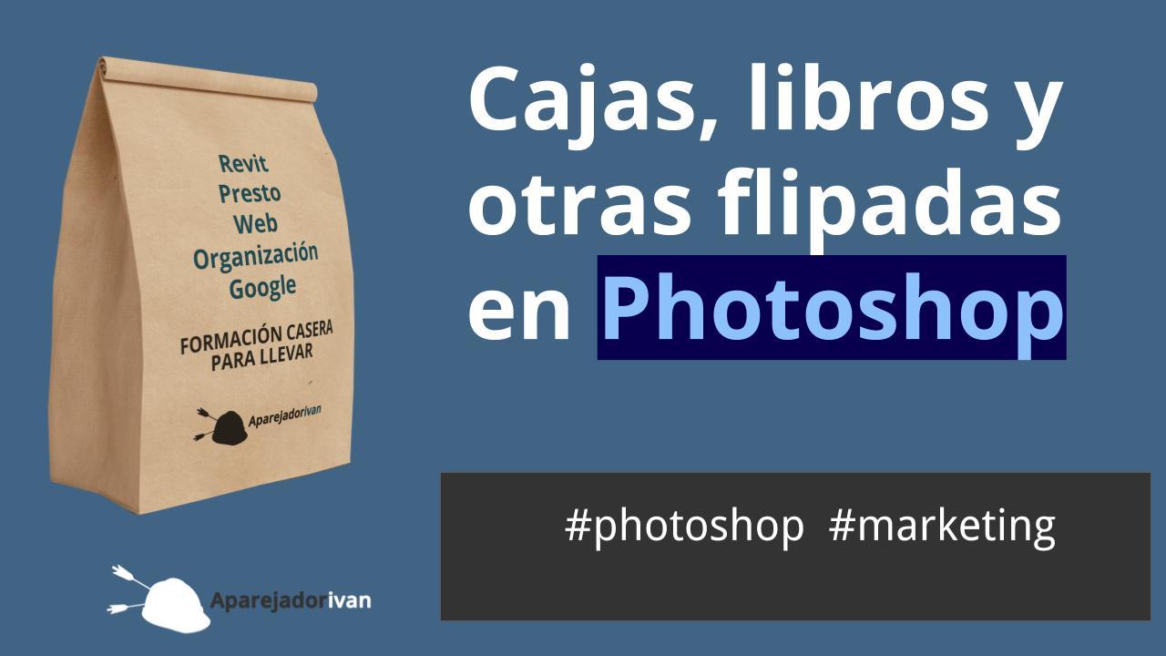 cajas libros y otras flipadas en photoshop