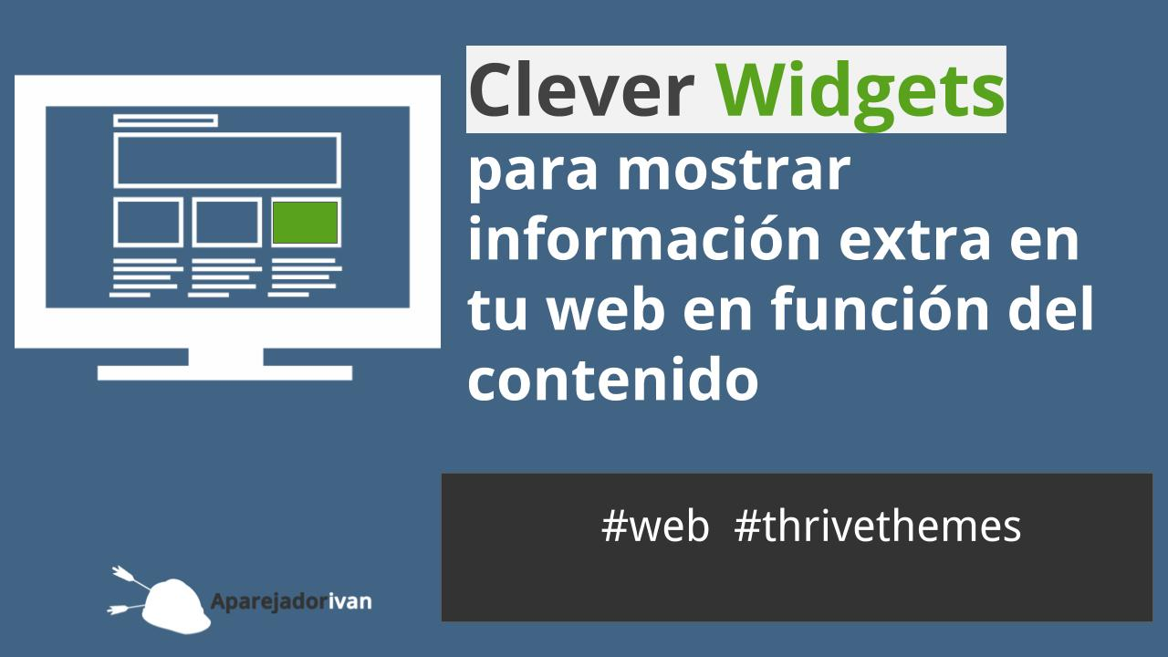 clever widgets de Thrivethemes