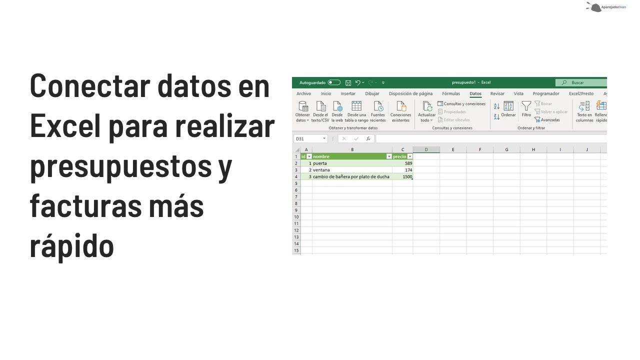 conectar hojas de calculo en excel para presupuestos mas rapidos