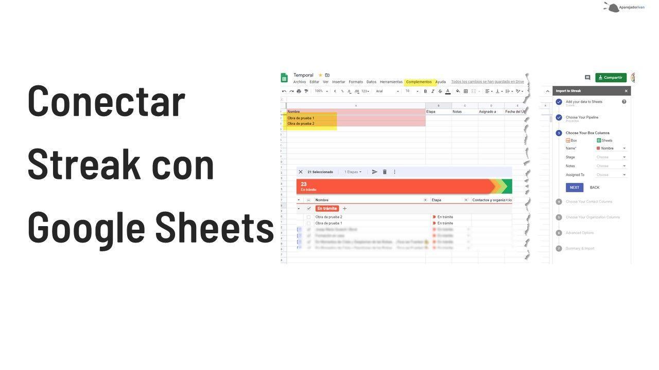 conectar streak con google sheets
