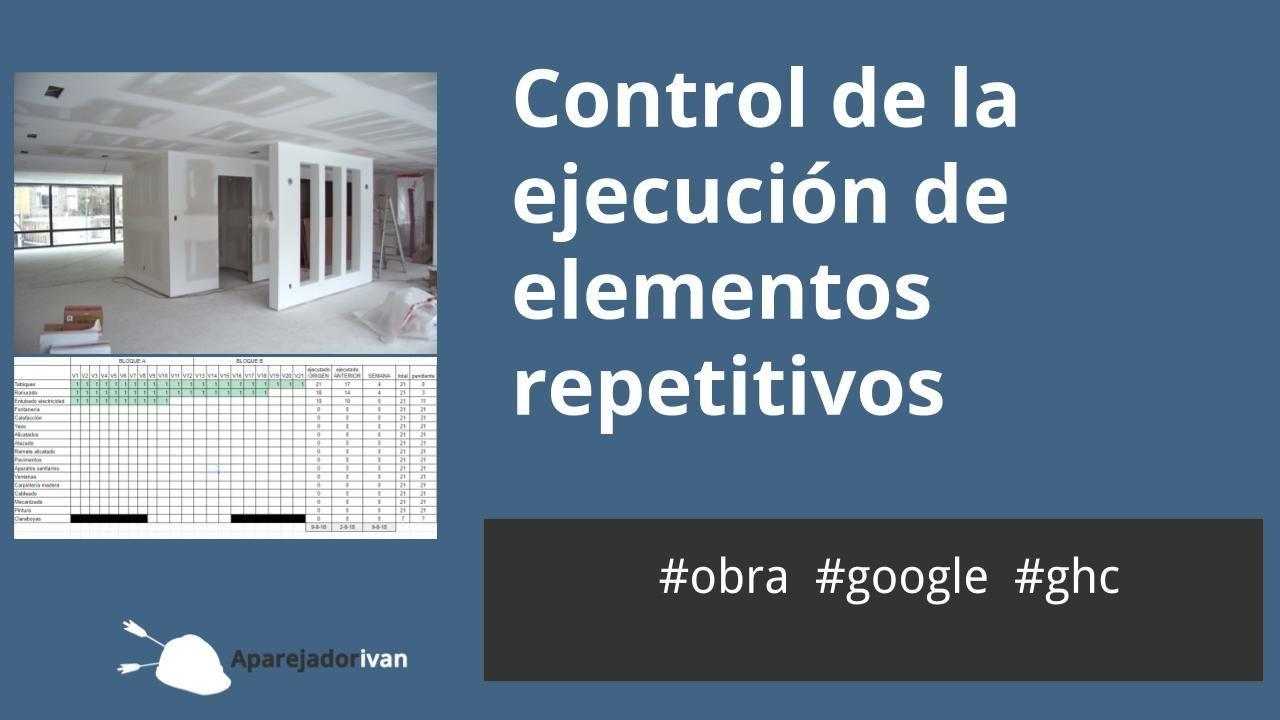 control de la ejecución de elementos repetitivos