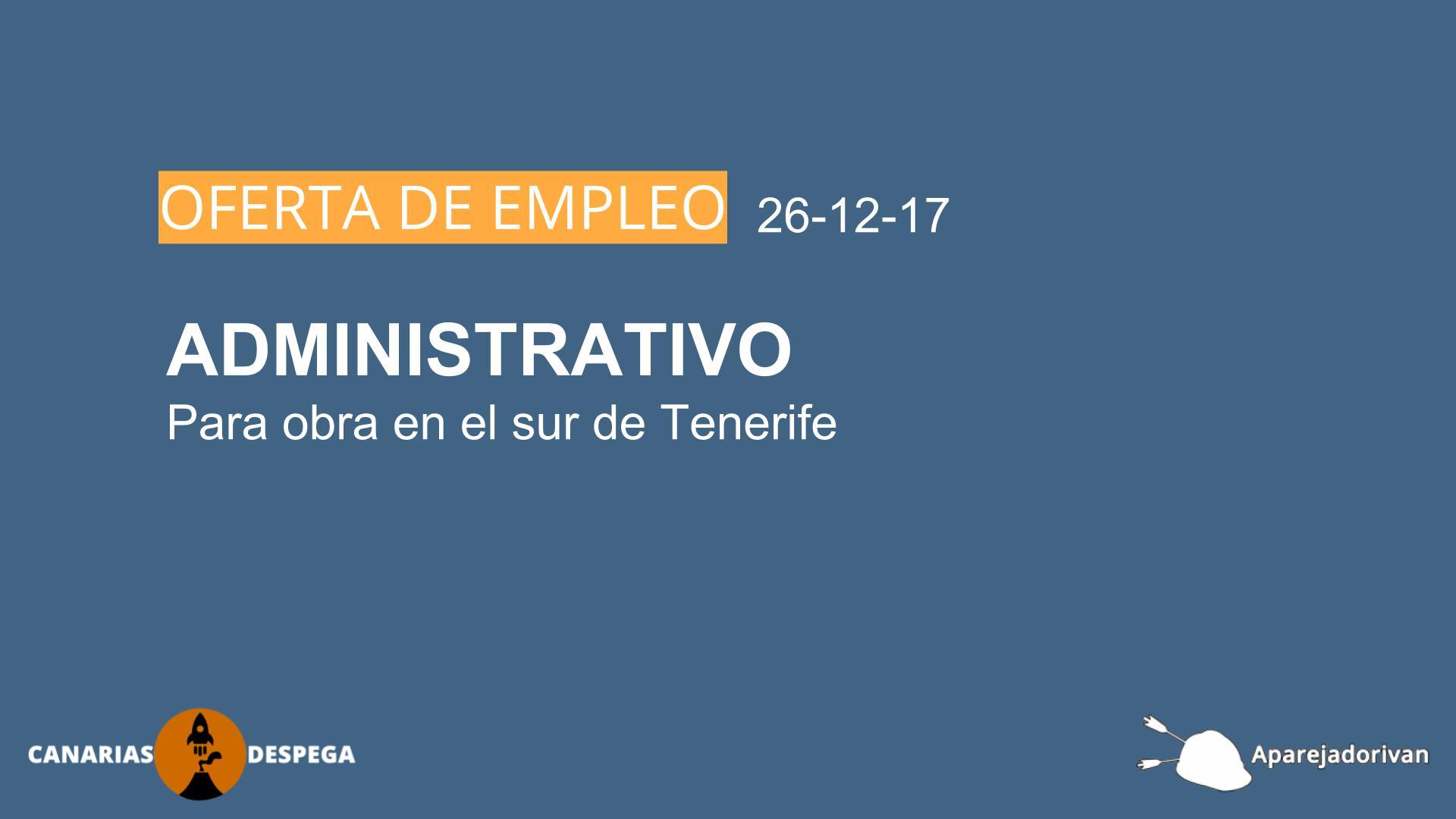 empleo administrativo de obra 26-12-17