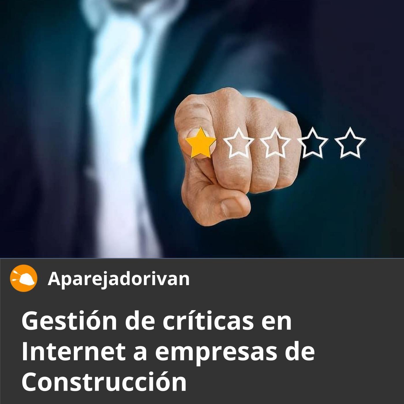 gestion de criticas en internet a empresas de construccion