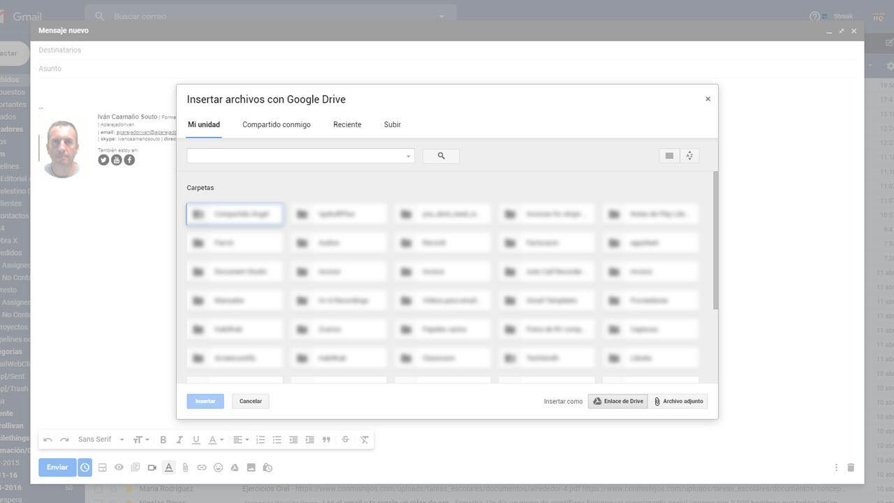 insertar archivos de google drive