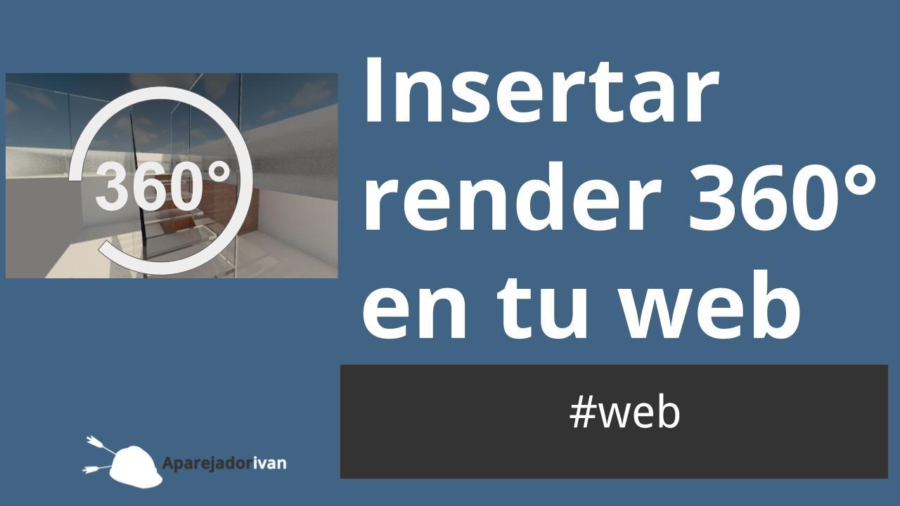 insertar render en la web