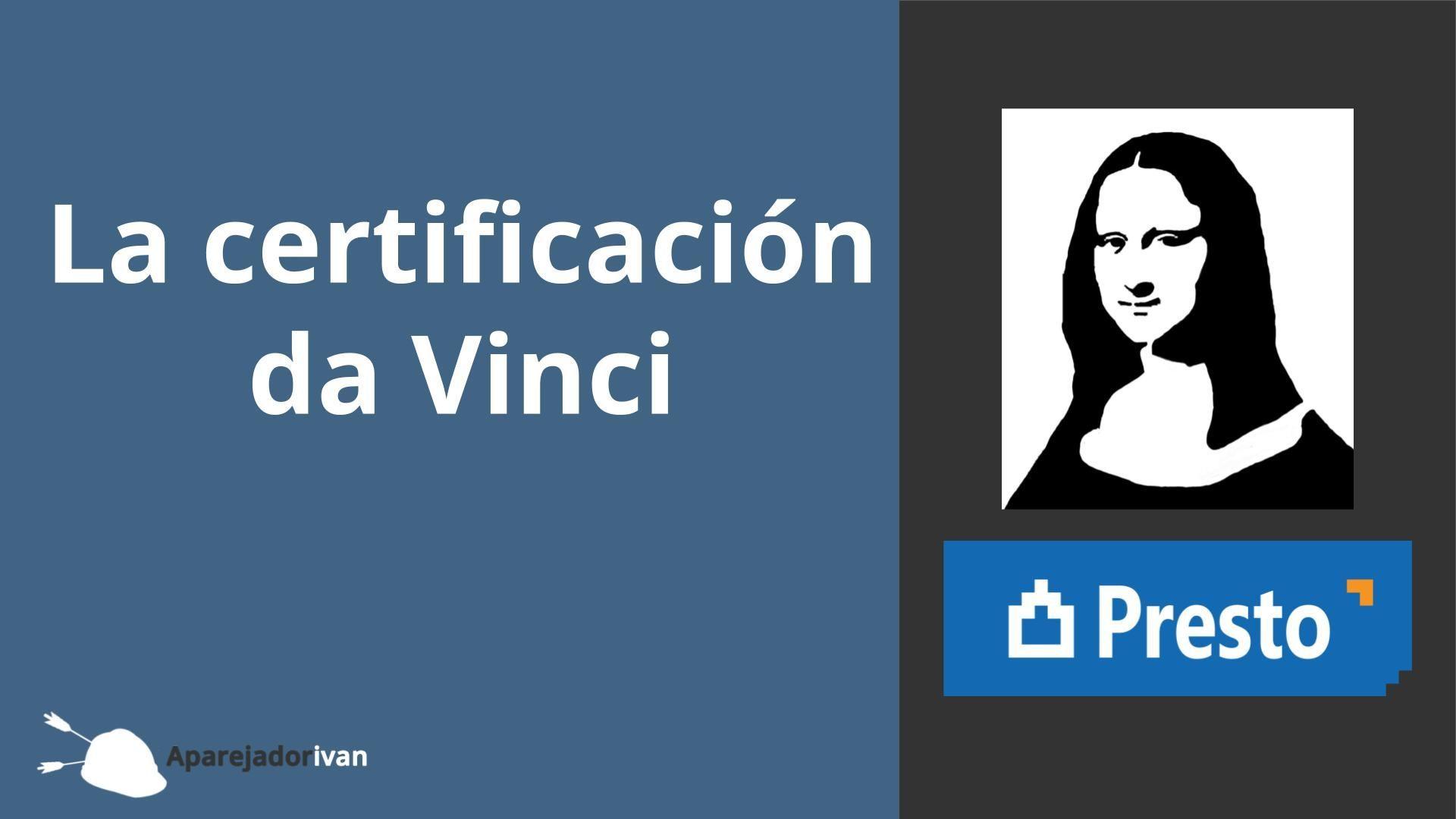 la certificación da vinci