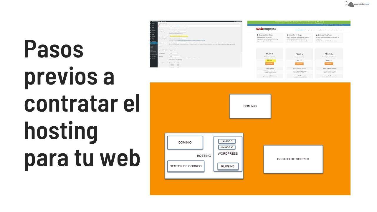 pasos previos a contratar el hosting para tu web