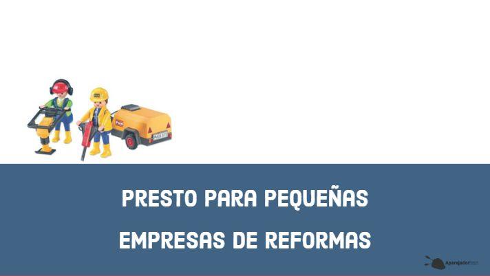 presto para pequenas empresas de reformas