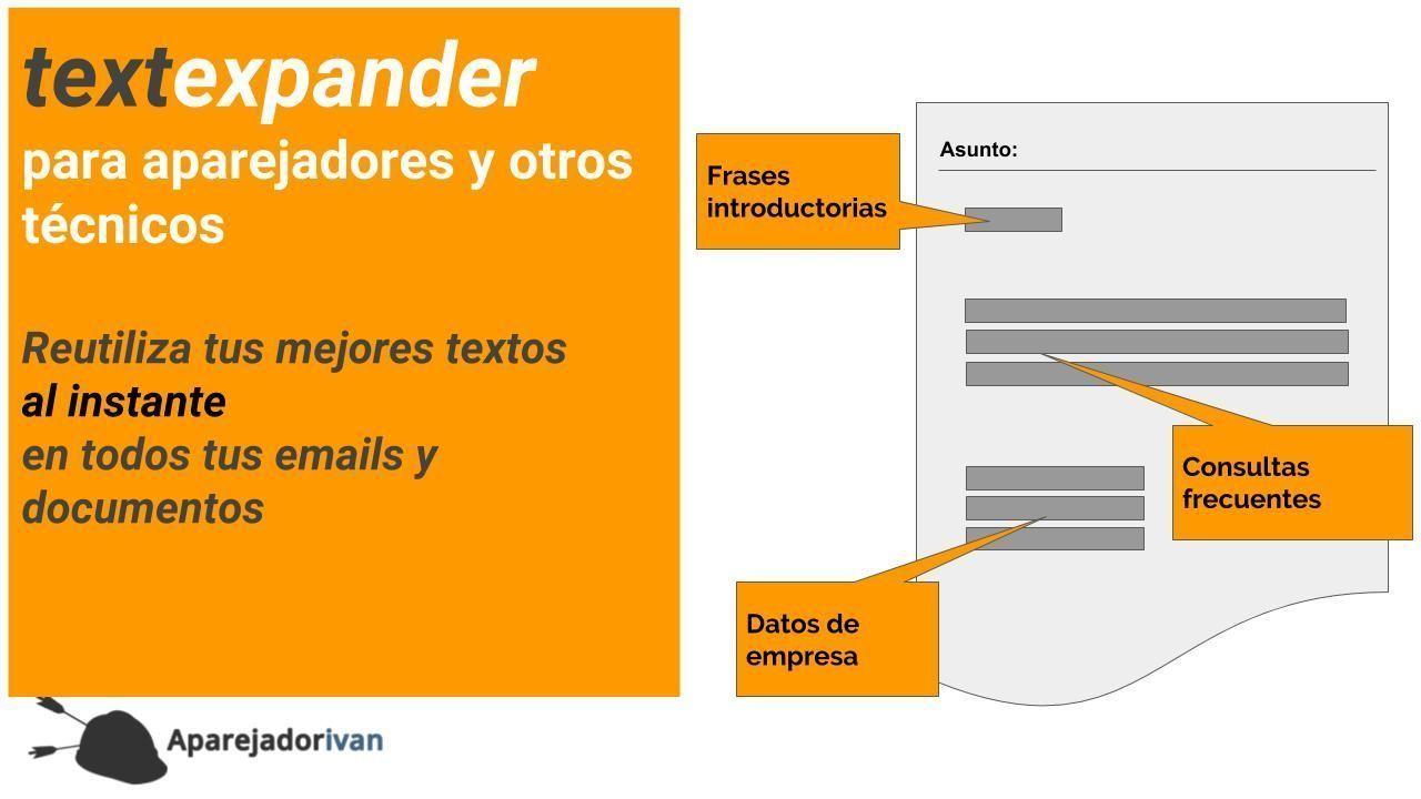 textexpander para aparejadores y otros tecnicos