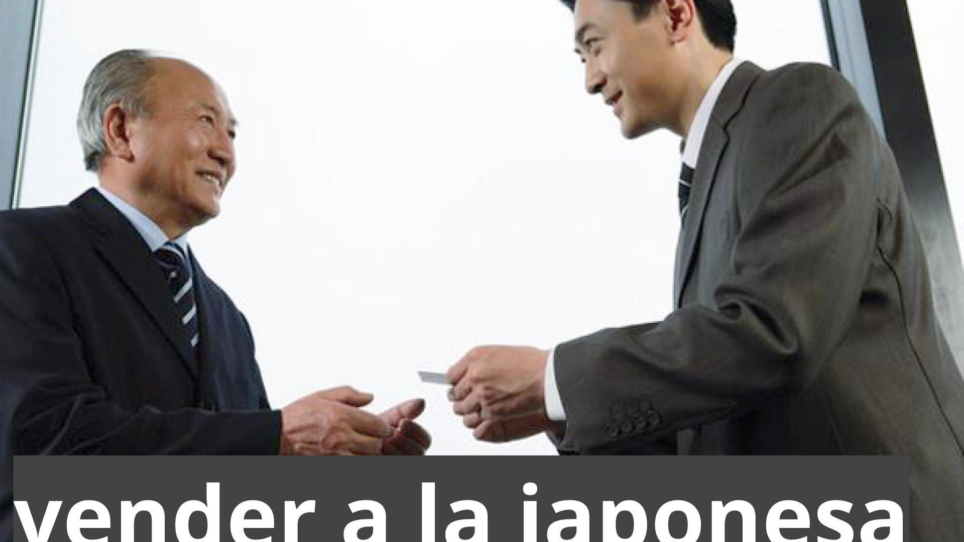 vender a la japonesa